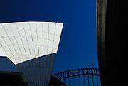 Sydney Opera House and Sydney Harbour Bridge. Sydney, Australia