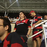 Disappointed Flamengo fans during the teams loss against Palmeiras in the Futebol Brasileirao  League match at Estadio Olímpico Joao Havelange, Rio de Janeiro, Palmeiras won the match 3-1. Rio de Janeiro,  Brazil. 25th September 2010. Photo Tim Clayton