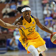 UNCASVILLE, CONNECTICUT- JUNE 5:   Erica Wheeler #17 of the Indiana Fever in action during the Indiana Fever Vs Connecticut Sun, WNBA regular season game at Mohegan Sun Arena on June 3, 2016 in Uncasville, Connecticut. (Photo by Tim Clayton/Corbis via Getty Images)