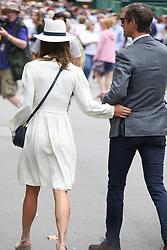 James and Pippa Matthews arrive at Wimbledon for mens semi finals<br /><br />14 July 2017.<br /><br />Please byline: Vantagenews.com