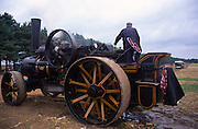 Steam traction engine in operation at Power of the Past event, Wantisden, Suffolk, England, UK c 2001