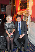 FRANCESCA WEAVER; CHARLES CUNNING, The Literary Review Bad Sex fiction award 2012. The In and Out Club, 4 St. james's Sq. London. 4 December 2012