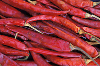 Nepal - Marché - Piments rouges