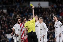 January 24, 2019 - Madrid, Spain - Real Madrid's Marcos Llorente react during Copa del Rey match between Real Madrid and Girona FC at Santiago Bernabeu Stadium. (Credit Image: © Legan P. Mace/SOPA Images via ZUMA Wire)