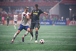 August 1, 2018 - Atlanta, Georgia, United States - MLS All-Star defender AARON LONG,33 (New York Red Bulls) fight for the ball against Juventus midfielder MATHEUS PEREIRA, 40 during the 2018 MLS All-Star Game at Mercedes-Benz Stadium in Atlanta, Georgia.  Juventus F.C. defeats  MLS All-Stars defeat  1 to 1  (Credit Image: © Mark Smith via ZUMA Wire)