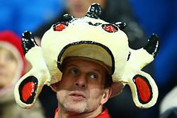 November 12, 2017 - Basel, Switzerland - FIFA World Cup Qualifiers play-off Switzerland v Northern Ireland.Switzerland supporter at St. Jakob-Park in Basel, Switzerland on November 12, 2017. (Credit Image: © Matteo Ciambelli/NurPhoto via ZUMA Press)