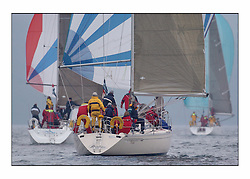 Racing at the Bell Lawrie Yachting Series in Tarbert Loch Fyne ..GBR 8370, Thornoxon a first 42 with Bell Lawrie Director Fraser Gardiner aboard..