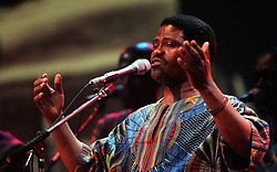 """Joseph Shabalala from the South African vocal group Ladysmith Black Mambazo performs during """"Here, There and Everywhere,"""" a charity concert at the Royal Albert Hall, in memory of Sir Paul McCartneys' late wife Linda."""