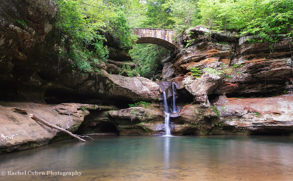 """""""Old Man's Cave Upper Falls""""<br /> <br /> Hocking Hills Ohio waterfall."""