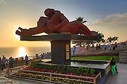 El Beso (the kiss) , statue, El Parque del Amor, Lovers Park, Miraflores, Lima, Peru