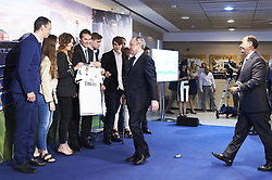 June 14, 2018 - Madrid, Madrid, Spain - Julen Lopetegui, Florentino Perez, Rosa Sanchez Maqueda and sons during the presentation of Julen Lopetegui as new head coach of Real Madrid F.C. at Santiago Bernabeu Stadium on June 14, 2018 in Madrid, Spain (Credit Image: © Jack Abuin via ZUMA Wire)