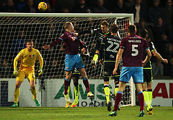 Neal Bishop of Scunthorpe United scores a late winning goal - Mandatory by-line: Matt McNulty/JMP - 11/11/2017 - FOOTBALL - Glanford Park - Scunthorpe, England - Scunthorpe United v Bristol Rovers - Sky Bet League One