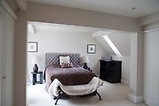 An upstairs bedroom at Richard Thoburn's apartment in Wyfold Court, Henley-on-Thames. CREDIT: Vanessa Berberian for The Wall Street Journal. COUNTRY-Henley-on-Thames