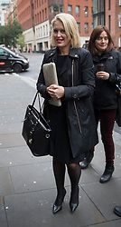 © Licensed to London News Pictures. 14/11/2016. London, UK. Jennifer Robinson, legal advisor to Julian Assange, arrives at the Ecuadorian Embassy as Swedish Chief Prosecutor Ingrid Isgren interviews WikiLeaks editor-in-chief. Assange, who has been living at the embassy for over four years, is wanted for questioning over accusations of rape in Stockholm in 2010. Photo credit: Peter Macdiarmid/LNP