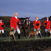 Members of West Hills Hunt, a English style fox hunting club in California. Photographed for Sports Illustrated