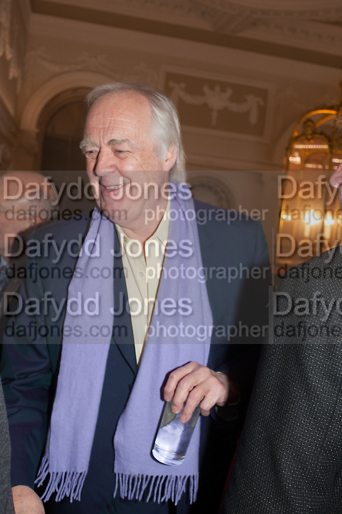 SIR TIM RICE, The Literary Review Bad Sex fiction award 2012. The In and Out Club, 4 St. james's Sq. London. 4 December 2012