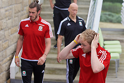 DINARD, FRANCE - Tuesday, June 7, 2016: Wales' Jonathan Williams checks his hair before a team group photograph at the Novotel Thalasso Dinard ahead of the start of the UEFA Euro 2016 tournament. (Pic by Paul Greenwood/Propaganda)
