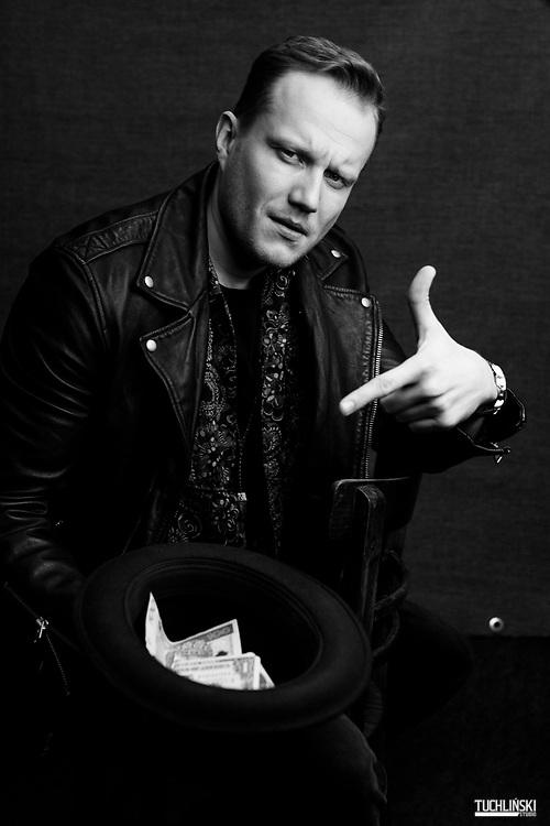 """06.03.2019 Polska Warszawa. """" Mrozu """" Łukasz Mroz piosenkarz , producent muzyczny, kompozytor i autor tekstow.<br /> Fot. Adam Tuchlinski dla Playboy"""