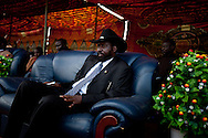 Salva Kiir the future president of South Sudan.