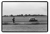 An outpost of an army cadets march on the Blackheath, 1982. South-East London, 1982