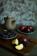 Plum and Black berry