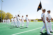 The University of Wisconsin Navy ROTC Spring Review/Awards Ceremony is held on the UW Marching Band Practice Field in Madison, Wisconsin on April 21, 2012.