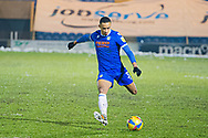 Colchester United's Cohen Bramall (3) takes a shot at during the EFL Sky Bet League 2 match between Colchester United and Cambridge United at the JobServe Community Stadium, Colchester, England on 16 January 2021.
