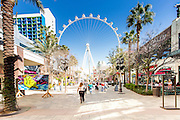 Las Vegas, The Linq Promenade The Ferris wheel In the background