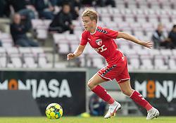 Kristian Kirkegaard (FC Fredericia) under kampen i 1. Division mellem FC Fredericia og FC Helsingør den 4. oktober 2020 på Monjasa Park i Fredericia (Foto: Claus Birch).