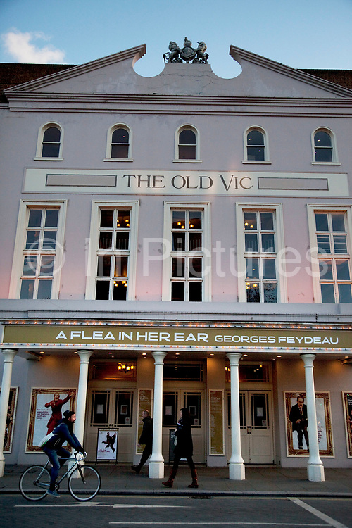 The Old Vic Theatre on The Cut in London. The Old Vic is one of the best known and best loved theatres in the world, synonymous with the greatest acting talent that Britain has ever produced. This iconic 192-year-old building has a rich history of great performances and The Old Vic Theatre Company under the artistic leadership of Kevin Spacey, continues to attract the best creative talent from the UK and all over the world to tread its famous boards.