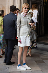 © Licensed to London News Pictures. 15/06/2018. London, UK.  Lily Cole attends the memorial service for Professor Stephen Hawkin at Westminister Abbey. Photo credit: Ray Tang/LNP