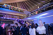 Alexandra Shulman, Sir Terence Conran and Deyan Sudjic co -host the opening party of the new Design Museum  in the former Commonwealth Institute pavilion, High Street Kensington London. 22 November 2016.
