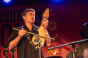 Nicolay Kolev of the band Cherven Traktor, plays the gadulka, which has 14 strings.