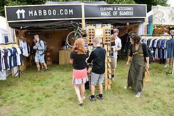 Latitude Festival 2017, Henham Park, Suffolk, UK. Stall selling clothing & accessories made of bamboo
