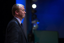 © Licensed to London News Pictures . 07/10/2014 . Glasgow , UK . TIM FARRON , President of the Liberal Democrats and MP for Westmorland and Lonsdale , stands before the audience after delivering his speech to the conference . The Liberal Democrat Party Conference 2014 at the Scottish Exhibition and Conference Centre in Glasgow . Photo credit : Joel Goodman/LNP