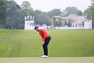 Michael Carrick putting on the first hole during the Celebrity Pro-Am day at Wentworth Club, Virginia Water, United Kingdom on 23 May 2018. Picture by Phil Duncan.
