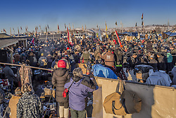 December 4, 2016 - Cannonball, North Dakota, United States - The Showdown at Standing Rock is a win for Native Tribes. The U.S. Army Corps of Engineers turned down a key permit for a the Dakota Access Pipeline that was slated to drill beneath the Missouri River and through sacred Sioux grounds. Many consider this a historic victory for Native Americans and climate activists who have protested the project for months. (Credit Image: © Michael Nigro/Pacific Press via ZUMA Wire)