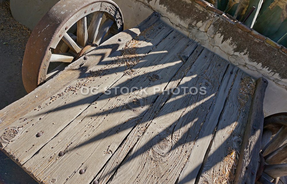 Antique Wooden Cart at Mission San Miguel