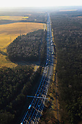 Nederland, Gelderland, Gemeente Rozendaal , 20-01-2011. A50 over de Veluwe, gezien in zuidelijke richting thv Terlet. Motorway A50 in the east of The Netherlands, near nature area De Veluwe..luchtfoto (toeslag), aerial photo (additional fee required).copyright foto/photo Siebe Swart