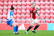 Manchester United midfielder Leah Galton (11) controls the ball during the FA Women's Super League match between Manchester United Women and Reading LFC at Leigh Sports Village, Leigh, United Kingdom on 7 February 2021.
