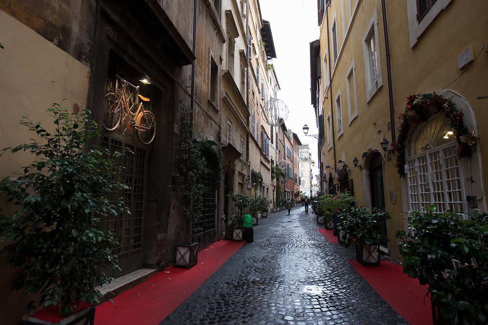 A street view in Rome, Italy.