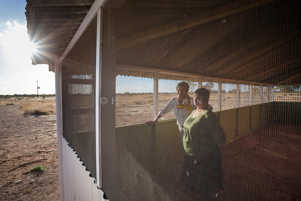Pam and Roddy from the Barkly Regional council have a look around inside the Telegraph Station which was built in 1875. The Station was used by early settlers as a shelter from the harsh weather conditions in the Territory.