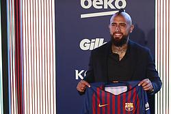 August 6, 2018 - Barcelona, Catalonia, Spain - August 6, 2018 - Camp Nou, Barcelona, Spain -Presentation of Arturo Vidal as new player of the FC Barcelona, in Barcelona. (Credit Image: © Marc Dominguez via ZUMA Wire)