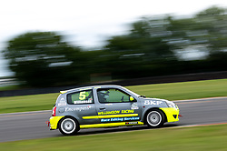 Crispin Williamson pictured competing in the 750 Motor Club's Clio 182 Championship. Image captured at Snetterton on July 18, 2020 by 750 Motor Club's photographer Jonathan Elsey