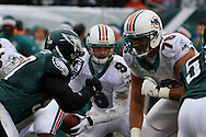 PHILADELPHIA - NOVEMBER 18: Quarterback John Beck #9 of the Miami Dolphins looks for an opportunity during the game against the Philadelphia Eagles on November 18, 2007 at Lincoln Financial Field in Philadelphia, Pennsylvania.