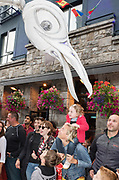 20/07/2018 repro free: Magical, hypnotic and full of surprises, Birdmen roam the streets of Galway as part of Galway International Arts Festival. Close Act from the Netherlands bring their illuminated stilt-walking pterodactyl creatures to Galway on Saturday July 21 & Sunday July 22. See www.giaf.ie for full details. The 41st Galway International Arts Festival is now on with over 200 events running until July 29. <br /> Pictures: Andrew Downes/Xposure