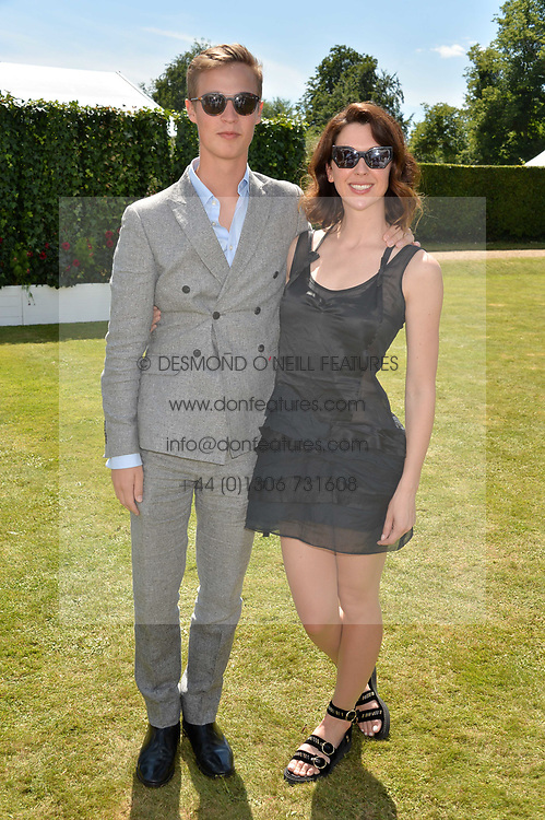 The Hon.William Gordon-Lennox, Margo Stilley at the Cartier Style et Luxe at the Goodwood Festival of Speed, Goodwood, West Sussex, England. 2 July 2017.<br /> Photo by Dominic O'Neill/SilverHub 0203 174 1069 sales@silverhubmedia.com