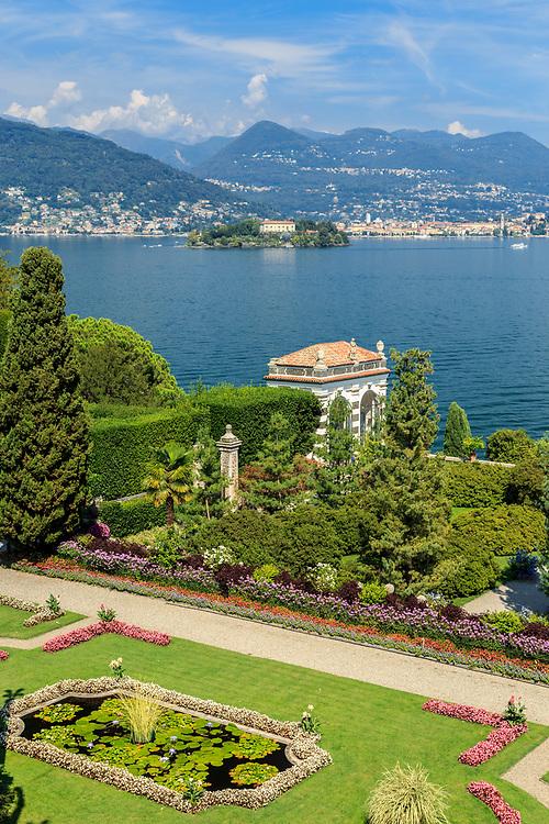 Isola Madre seen from Isola Bella at Lago Di Maggiore, Italy.