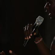 David Rudisha, Kenya, who broke his own World Record in winning the Men's 800m at the 2012 Olympics, at the Adidas Grand Prix Press Conference, Hyatt Grand Central, New York ahead of the Adidas Grand Prix at Icahn Stadium, Randall's Island. Manhattan, New York. 24th May 2012. Photo Tim Clayton