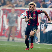 HARRISON, NEW JERSEY- OCTOBER 15: Anton Walkes #26 of Atlanta United in actionduring the New York Red Bulls Vs Atlanta United FC, MLS regular season match at Red Bull Arena, Harrison, New Jersey on October 15, 2017 in Harrison, New Jersey. (Photo by Tim Clayton/Corbis via Getty Images)